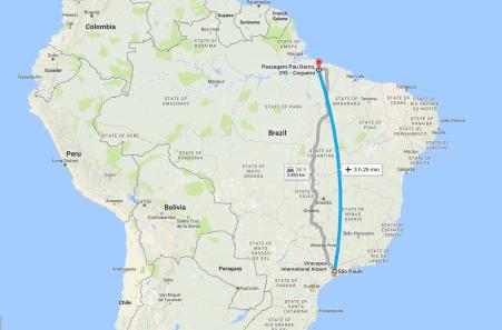 São Paulo to Belém